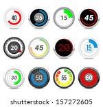 timers set  twelve different... | Shutterstock .eps vector #157272605