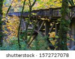 The Old columbia River Gorge Highway bridge over Latorell creek in the Columbia Gorge scenic area, Oregon