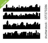 skyline silhouettes vector | Shutterstock .eps vector #157273286