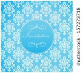 invitation or wedding card with ... | Shutterstock .eps vector #157273718