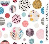seamless background pattern.... | Shutterstock .eps vector #1572744172