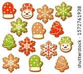 Set Of 14 Cute Gingerbread...