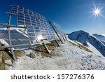 Big Cluster Of Solar Panels On...