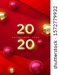 happy new 2020 year. holiday...   Shutterstock .eps vector #1572779932