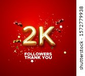 2 thousand. thank you followers.... | Shutterstock .eps vector #1572779938