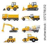 building machines set | Shutterstock .eps vector #157278152