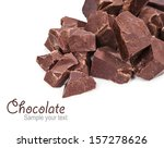 chocolate pieces isolated on... | Shutterstock . vector #157278626