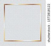 golden frame on transparent... | Shutterstock .eps vector #1572818122
