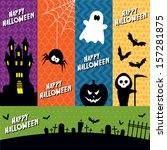 a set of five vector halloween... | Shutterstock .eps vector #157281875