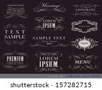vector set of calligraphic... | Shutterstock .eps vector #157282715