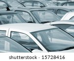 telephoto view of cars parked... | Shutterstock . vector #15728416