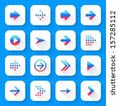 16 arrow icon set 01  gradient...