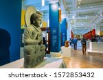 Small photo of [object Object]LONDON, UNITED KINGDOM - MAY 12 2018: The British Museum - a public institution dedicated to human history, art and culture, it's among the largest and most comprehensive in e