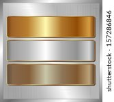 silver panel with three... | Shutterstock .eps vector #157286846