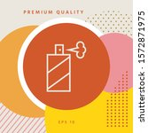 spray bottle line icon. graphic ... | Shutterstock .eps vector #1572871975