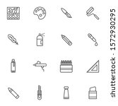painting tool line icons set.... | Shutterstock .eps vector #1572930295