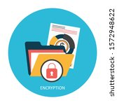 privacy security concept.... | Shutterstock .eps vector #1572948622