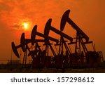 oil pumps. oil industry... | Shutterstock . vector #157298612