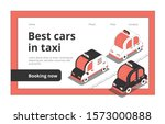taxi web page isometric website ...