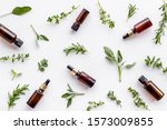 essential oils and fresh herbs...   Shutterstock . vector #1573009855