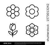 the best flower icons vector... | Shutterstock .eps vector #1573013242