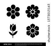 the best flower icons vector... | Shutterstock .eps vector #1573015165