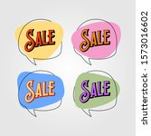 colorful vintage bubble sale... | Shutterstock .eps vector #1573016602