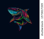 The Shark Line Pop Art Potrait...