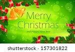 branch of christmas tree with... | Shutterstock .eps vector #157301822