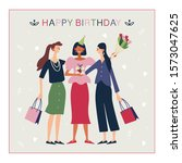 happy birthday message card....   Shutterstock .eps vector #1573047625