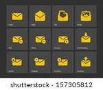 mail icons. vector illustration.