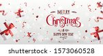 red christmas and new year text ... | Shutterstock .eps vector #1573060528