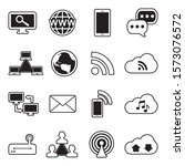 internet icons. line with fill... | Shutterstock .eps vector #1573076572