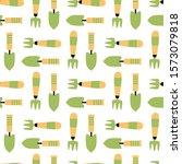 garden tool seamless pattern....   Shutterstock .eps vector #1573079818