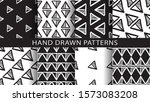 a set of abstract patterns.hand ... | Shutterstock .eps vector #1573083208