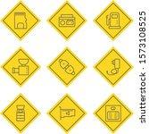 9 icon set of electronic...