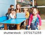 children play and study...   Shutterstock . vector #1573171255