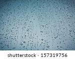 Closeup Of Raindrops On The...