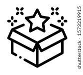 star bonus box icon vector.... | Shutterstock .eps vector #1573219915