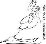 illustration of bride   Shutterstock .eps vector #157324052