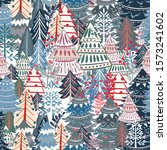 christmas vector pattern with...   Shutterstock .eps vector #1573241602