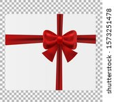 gift box with red ribbon | Shutterstock .eps vector #1573251478
