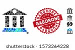 mosaic bank building icon and... | Shutterstock .eps vector #1573264228