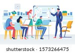 cartoon boss businessman hold... | Shutterstock .eps vector #1573266475