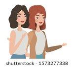 cute women cartoons drawing...   Shutterstock .eps vector #1573277338