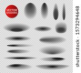 vector shadows set on...   Shutterstock .eps vector #1573294648