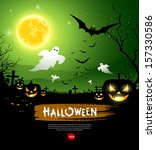 halloween ghost design... | Shutterstock .eps vector #157330586