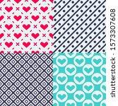 valentine's day patterns. set... | Shutterstock .eps vector #1573307608
