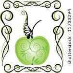 vintage apple | Shutterstock .eps vector #15733294