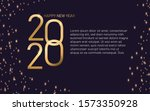text gold happy new year 2020.... | Shutterstock .eps vector #1573350928